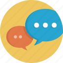 bubble, bubbles, chat, communication, dialogue, social, speech, talk icon