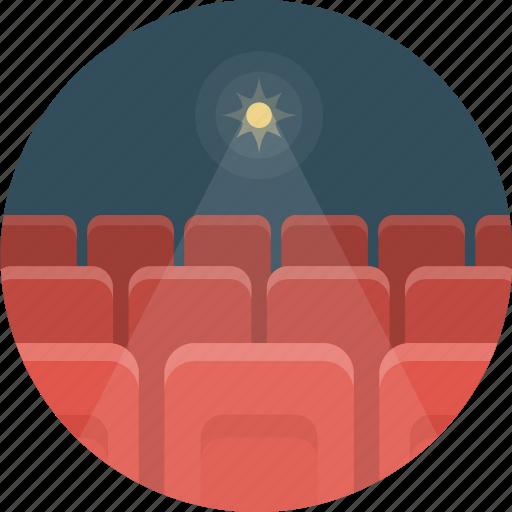 cinema, hall, movie, video icon