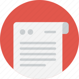 dock, document, documentation, editor, file, note, paper, text icon