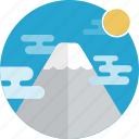 mountains, nature icon