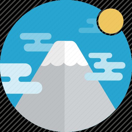 mountains, nature icon