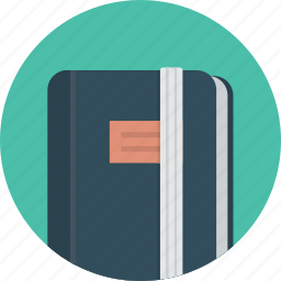 book, diary, document, moleskine, note, notebook icon