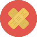 adhesive, aid, care, doctor, heal, hospital, medical, patch, plaster icon