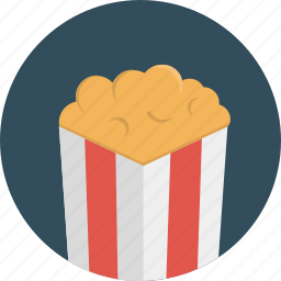 cinema, movie, popcorn icon