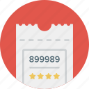 admit, event, movie, purchase, show, theater, ticket icon