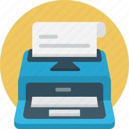 article, content, print, submission, typewriter, writer icon