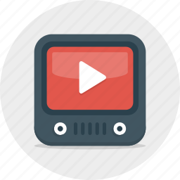 film, movie, multimedia, play, player, social, video, youtube icon