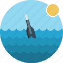 bottle, ocean, sea, water icon