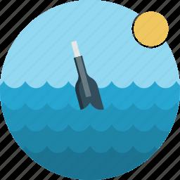 bottle, ocean, sea, water icon