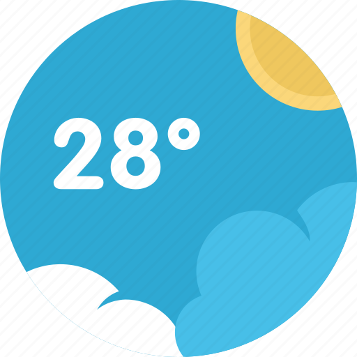 climate, cloud, sky, sun, temperature, weather icon