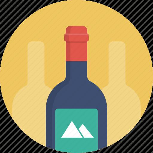 alcohol, bottle, wine icon