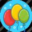 baloon, baloons, birthday, celebrate icon