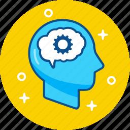 brain, head, human head, mind, think, thinking icon