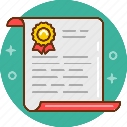 agreement, certification, contract, diplom icon