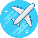 airplane, delivery, flight, plane, takeoff, travel icon