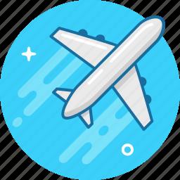 airplane, delivery, flight, plane, takeoff, travel icon