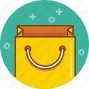 bag, cart, paper bag, shopping icon