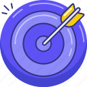 aim, arrow, dartboard, goal, target icon