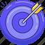 aim, arrow, dartboard, goal, target icon