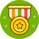 award, gold, medal, prize icon