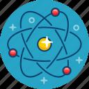 atom, chemistry, formula, molecula, reaction icon