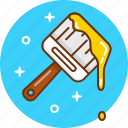 brush, design, paint, paintbrush, painting icon