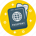 fly, passport, tourism, travel, trip, vacation icon