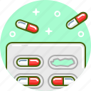 capsules, drugs, healthcare, medical, medicine, pillpack, pills icon