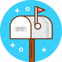 email, letter, mail, post, postbox icon
