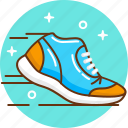fitness, run, running, shoe, sport, trainer icon