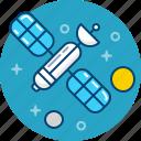 gps, navigation, satelite, space, spaceship icon