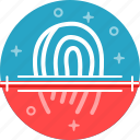 biometric, finger, id, scan, scaner, touch icon