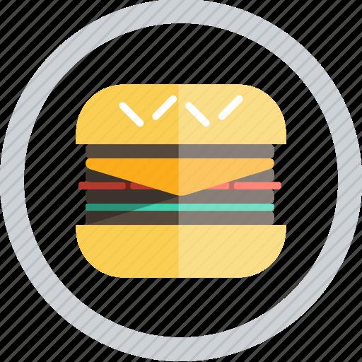 food, hamburger burger icon