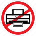 ban, multimedia, notice, paper, print, printing, sign icon