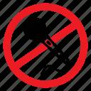 ban, karaoke, mic, no, notice, sign, sing icon