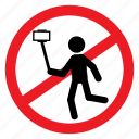ban, camera, no, notice, photo, selfie, sign icon