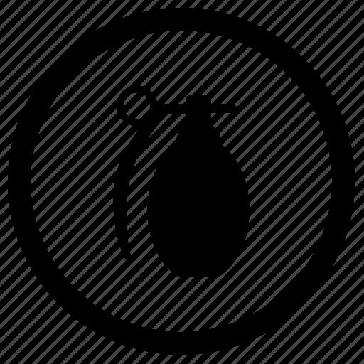 bang, explosion, granate, label, round, terrorist, weapon icon