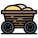 bangladesh, cart, food, trolley icon