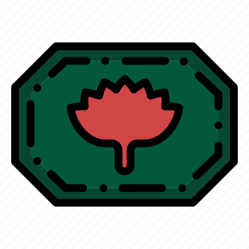 bangla, bangladesh, label, monogram icon