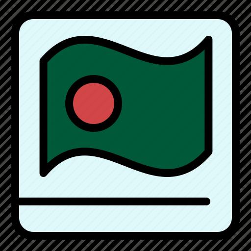 asian, bangla, bangladesh, flag icon