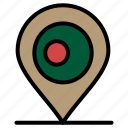 bangladash, location, map icon