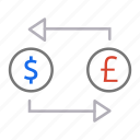 coins, conversion, currency, money, money exchange, transaction icon