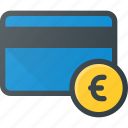 action, bank, card, euro, money icon