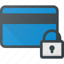 action, bank, card, lock, security icon