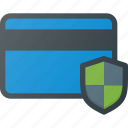 action, bank, card, security, shild icon