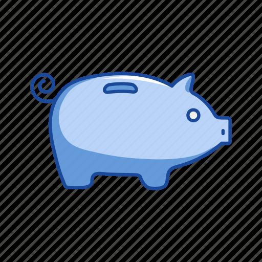 coin bank, pig, piggy bank, savings icon