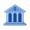 building, business, dollar sign, financial instution icon