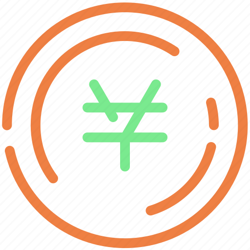 cash, coin, payment, shipping, yen icon