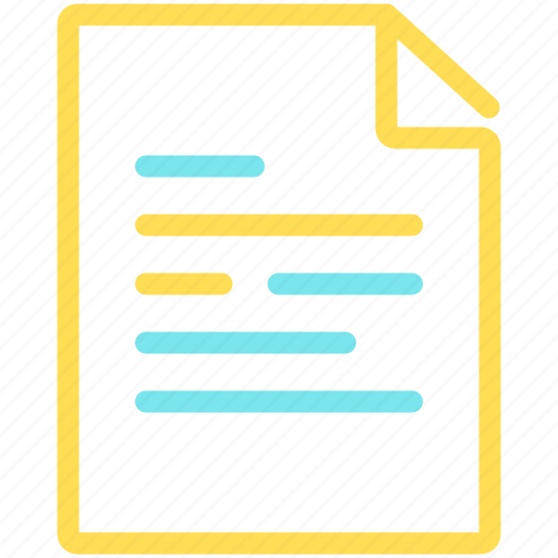 business, data, document, file, office, study, work icon
