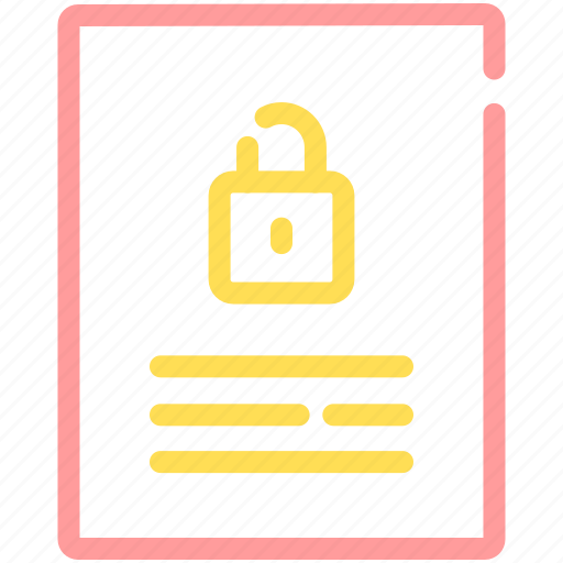Document, file, lock, password, security icon - Download on Iconfinder